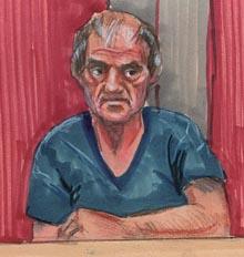 Портрет маньяка Клиффа Олсона сделанный в тюрьме.