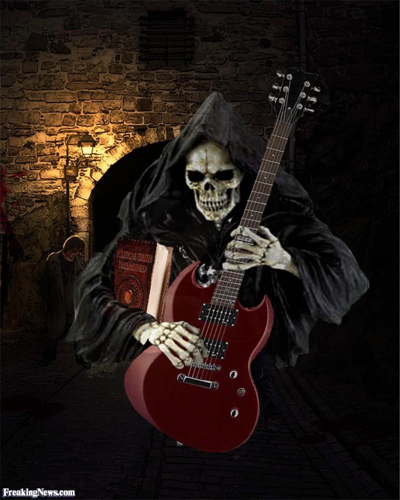 Открытки, монстры с гитарами картинки