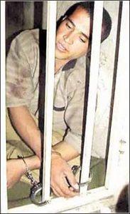 МаньякМохаммед Бидже в тюрьме.