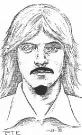 Рисунок маньяка Ричарда Чейза сделанный в полиции.