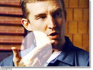 Убийца Кенни Кимс во время знаменитого интервью.