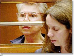 Убийца Кенни Кимс во время судебного заседания.