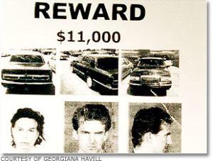Сообщение о розыске убийц Санты и Кеннета Кимсов.