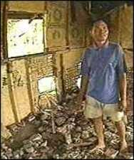 Разрушенный дом серийного убийцы Ахмада Сураджи.
