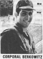 Будущий серийный убийца Дэвид Берковиц в армии.
