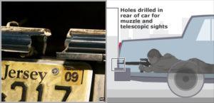 Лежанка стрелка в автомобиле серийного убийцыДжона Мухаммада.