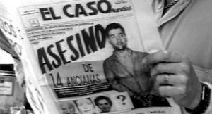 Сообщение в газете про маньяка Хосе Антонио Родригеса Вега.