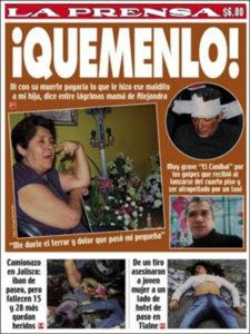 Сообщения в прессе о поимке писателя маньяка Хосе Луиса Кальвы.