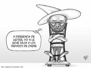Карикатура писателя маньяка Хосе Луиса Кальвы.