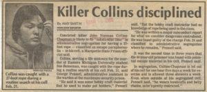 Сообщение в прессе оманьяке Джоне Нормане Коллинзе.