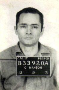 Маньяк Чарльз Миллз Мэнсон в тюрьме.