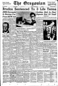 Сообщение в газете об аресте серийного убийцы Джерри Брудоса.