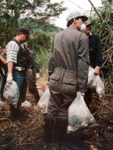 Поиск жертв маньяка Луиса Альфредо Гаравито.