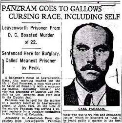 Сообщение в прессе о маньяке Карле Панцраме.