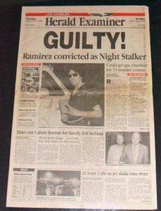 Заметки в прессе про маньяка Ричарда Рамиреса.