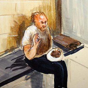Рисунки с изображением серийного убийцы Роберта Пиктона.