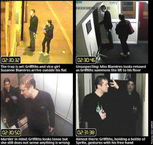 Съемка на камеру видео наблюдения серийного убийцы Стивена Шона Гриффитса.
