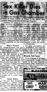 Сообщение в прессе про маньяка Харви Мюррея Глатмена.