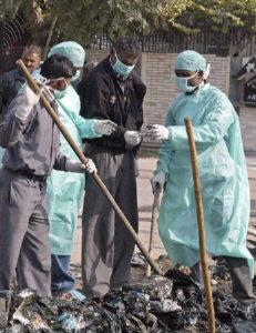 Работа сотрудников судебно-медицинской экспертизы