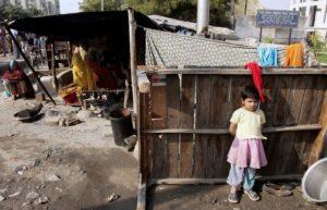 Жилище мигрантов в Индии.