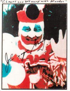 Редкое фото с автографом маньяка Джона Уэйна Гейси.