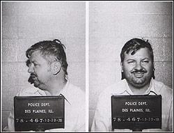 Фото маньяка Джона Гейси во время второго ареста.