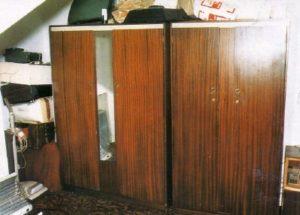 Шкаф в доме маньяка Денниса Нильсена.