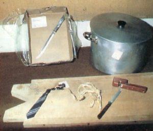 Орудия убийства и расчленения маньяка Денниса Нильсена.
