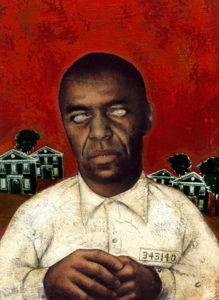 Портрет маньяка Карла Уоттса сделанный в тюрьме.