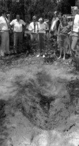 Захоронение одной из жертв маньяка Дэвида Бирни.
