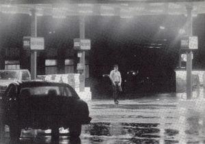 Полицейская съемка маньяка Ларри Эйлер, возле винного магазина.