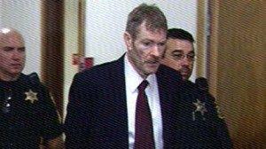 Маньяк Кевин Коу во время суда.
