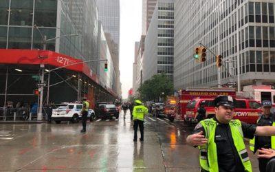 Криминальные новости: Произошло крушение вертолета на крыше небоскреба Манхэттена