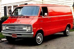 Красный фургон «Додж», на котором передвигались маньяки.