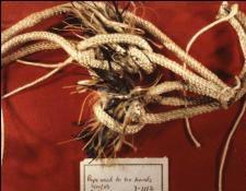 Фото верёвки найденной при обыске.
