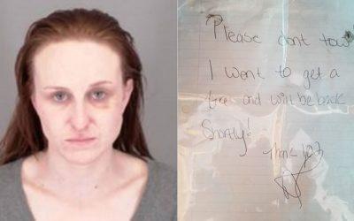 Скандалы и криминал: Полицейские сообщили о рукописной записке, которую оставили двое угонщиков автомобилей
