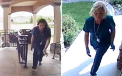 Скандалы и криминал: Позаявлению полиции в субботу,пара воровок переодетых медсестер, похитила пакеты с доставкой