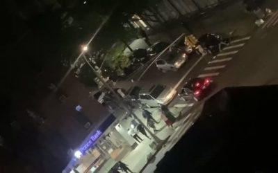 Криминальные новости: На шокирующем видео, размещенном в социальных сетях, видно, какполицейскогосбиваетавтомобиль во вторник ночью
