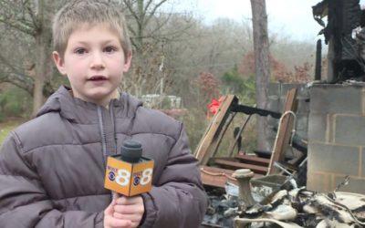 Криминальные новости: Семилетний Илай спас жизнь младшей сестре, когда во время пожара забрался в комнату девочки через окно
