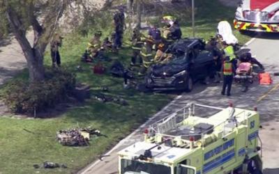 Скандалы и криминал: Как стало известно, во Флориде легкомоторный самолёт упал на автомобиль