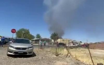 Криминальные новости: В Лас-Вегасе потерпел крушение военный самолёт, воздушное судно разбилось на северо-востоке города