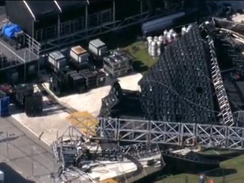 Скандалы и криминал: На стадионе в Майами-Гарденс, рухнула конструкция гигантского видеоэкрана