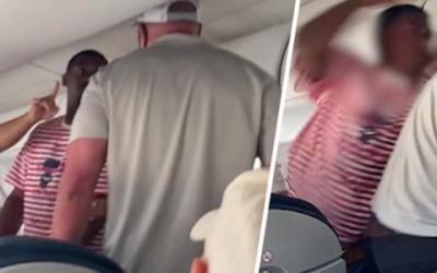 Скандалы и криминал:. Пассажиры сняли на борту поединок между двумя мужчинами